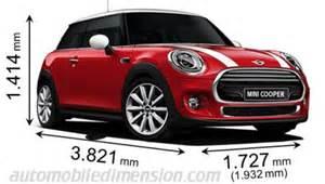 Mini Cooper Trunk Dimensions Dimensions Des Voitures Mini Longueur X Largeur X Hauteur