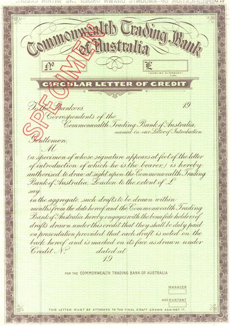 Sle Of Bank Letter Of Credit Circular Letter Of Credit Pictures