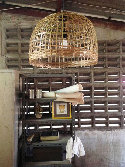 large dining room pendant lighting bamboo basket wicker