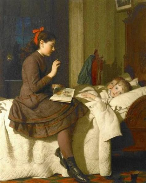the bed guy the bed time story 1878 seymour joseph guy american