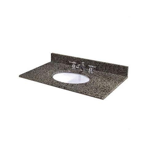 31 Granite Vanity Top 31 quot granite vanity top with sink wayfair