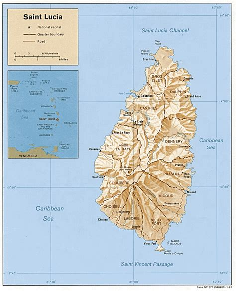 printable road map of st lucia top stats for saint lucia country profile
