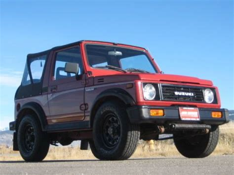 Suzuki 4 Wheel Drive Vehicles Buy Used 1988 Suzuki Samurai Jx 4 Wheel Drive W Air
