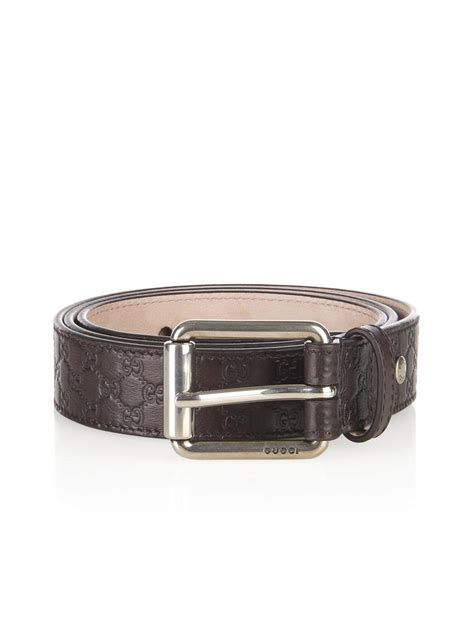 Gucci Color Center Leather Brown gucci debossed logo leather belt in brown for lyst