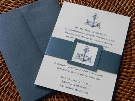 nautical wedding invitation nautical wedding wedding - Wedding Invitations Nautical