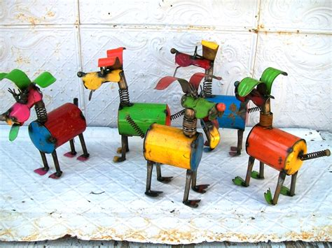 12 days of christmas metal yard art 13 quot recycled metal puppy yard
