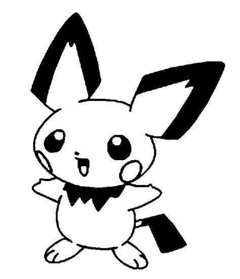 Pokemon Coloring Pages Pichu | coloring pages pokemon pichu drawings pokemon
