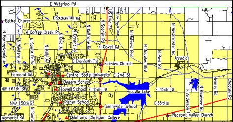 where is edmond oklahoma on the map edmond consolidated plan for 1995 executive summary