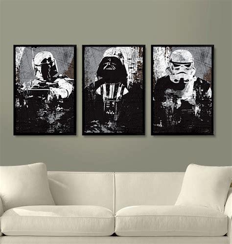star wars living room star wars all black darth vader stormtrooper and boba fett