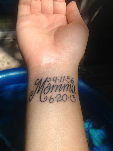 wrist tattoos for moms memorial tattoos on wrist foot and smallish
