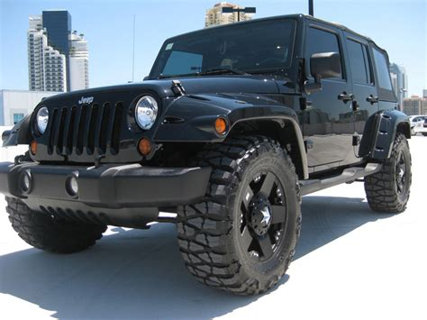 dark green jeep lifted black on black lifted unlimited 35 quot rockstars jk forum