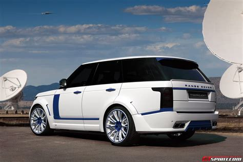 blue range rover vogue white lumma design range rover vogue clr r with blue