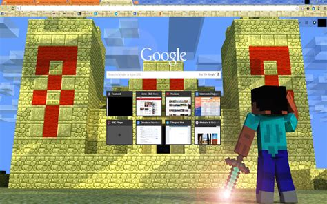 theme google minecraft minecraft temple chrome web store