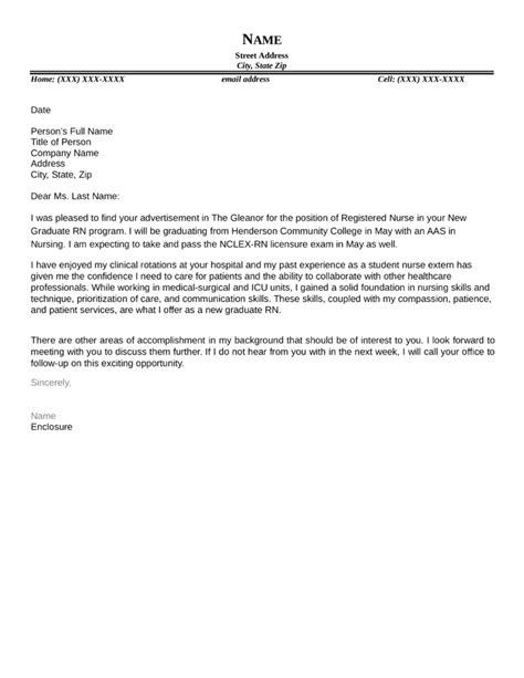 Sample Graduate Nurse Cover Letter – Custom Writing at $10 , cover letter dear human resources