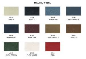 Fabric Chart For Upholstery 1964 65 Pontiac Gto Convertible Tops And Convertible Top Parts
