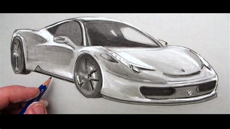 ferrari 458 sketch how to draw a car ferrari 458 youtube