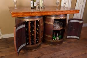Kitchen Islands With Wine Racks wine barrel bar and island set with wine rack and storage