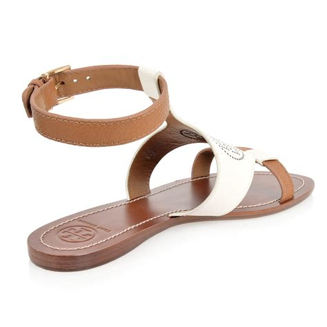 sandals outlet burch leather flat sandal with spence