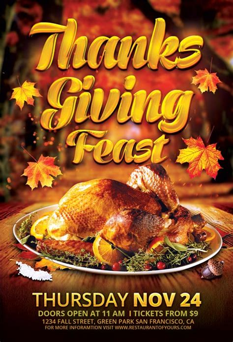 thanksgiving flyers free templates top 25 autumn flyer templates collection for photoshop