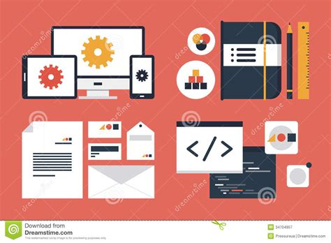 app design elements vector branding and application design elements royalty free