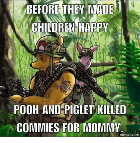 They Mad Meme - before they mad children happy pooh and piglet killed