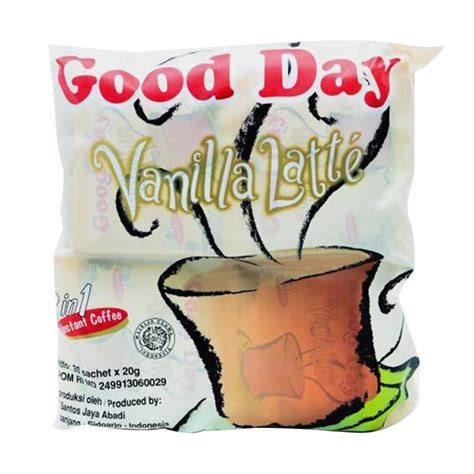 jual day vanilla latte 3 in 1 instant coffee 30 s x