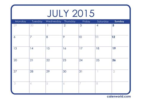 template of july 2015 july 2015 calendar in excel get an exclusive collection of july 2015 calendar printable