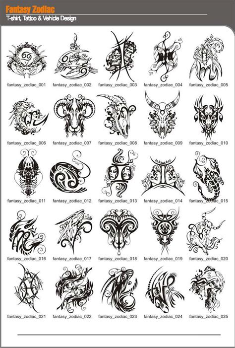 zodiac tattoos and designs page 25