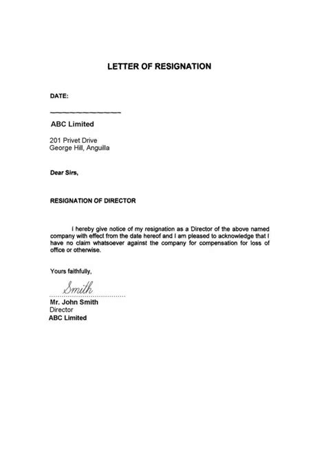 Top 10 Resignation Letter by Resignation Letter Format Best 10 Immediate Resignation Letter No Notice Period Resourcing