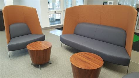 comfy library chairs visiting st cloud technical community college library