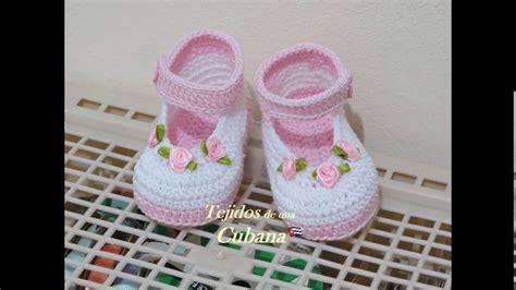 como hacer zapatitos tejidos para bebes youtube zapatos tejidos para ni 241 as youtube