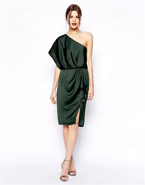 drape dress with one shoulder asos asos one shoulder drape dress
