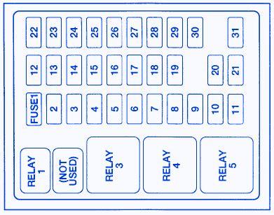 ford  wd  general fuse boxblock circuit breaker diagram carfusebox