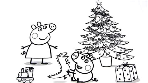 christmas colouring pages peppa pig peppa pig christmas coloring pages for kids video for kids