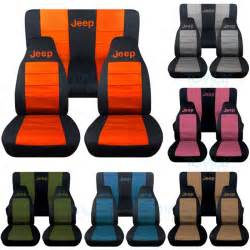 Seat Covers For Jeep Patriot 2015 Jeep Wrangler Yj Tj Jk 1987 2017 2 Tone Seat Covers W Logo
