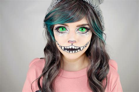 tutorial makeup halloween indonesia halloween special cheshire cat makeup tutorial using uv
