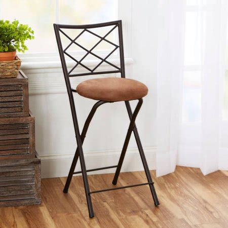 24 Folding Stool With Back by X Back Folding 24 Quot Counter Stool Bronze