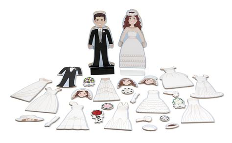 bride and groom magnetic dress up jigsaw puzzles games