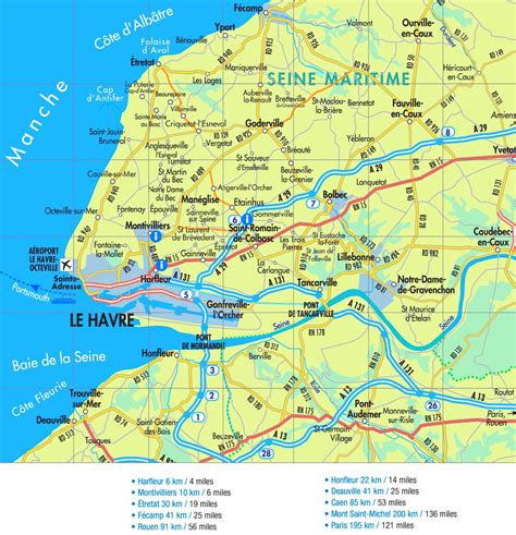 le havre map le havre road map