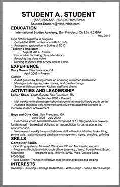 high school resume exles for college applications exle resume for high school students for college