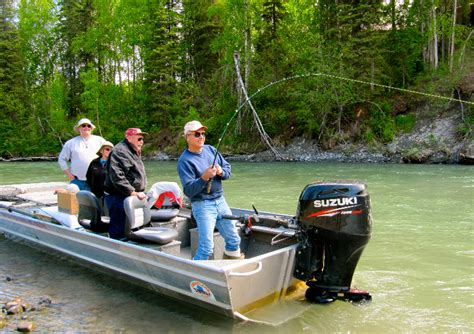 duck boat jet drive outboard jet boats fishtale river guides 907 746 2199