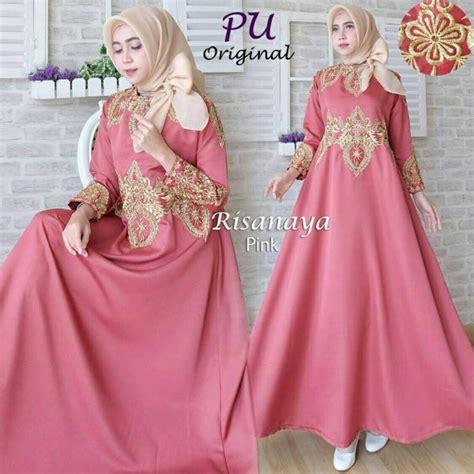 Gamis Pesta Warna Pink gamis pesta risanaya gaun muslim remaja mewah