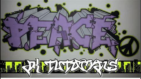 draw graffiti letters peace graffiti tutorial
