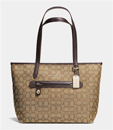 Silver Jacquard Doctor Bag From Circle by Coach Tote In Signature Jacquard Dillards
