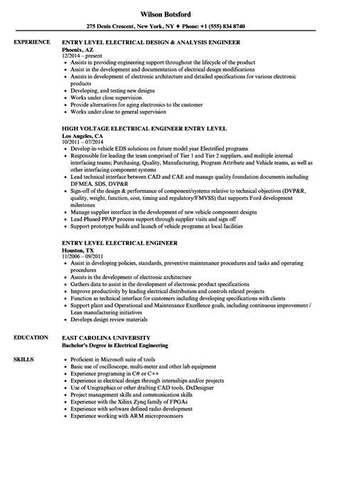 electronics resume engineer sample electrical engineering electronic