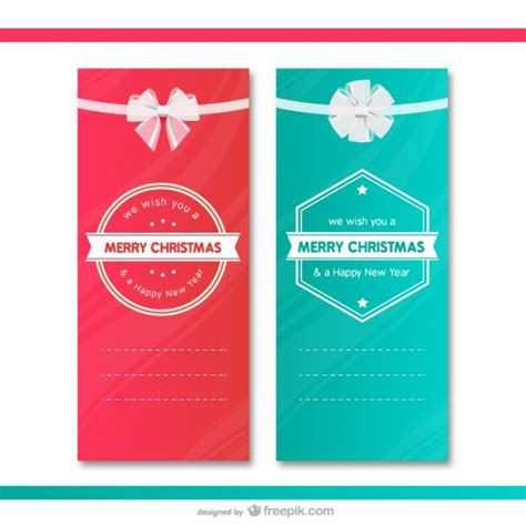 Gift Cards Christmas Free - christmas gift cards templates vector free download