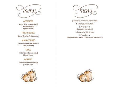 printable templates thanksgiving free downloadable printable thanksgiving menu
