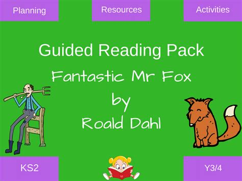 fantastic mr fox book report fantastic mr fox guided reading resources by