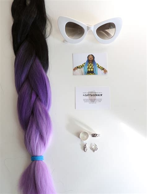 catface hair black lilac grey ombre jumbo braid hair boxbraids catface hair black lilac grey ombre jumbo braiding hair