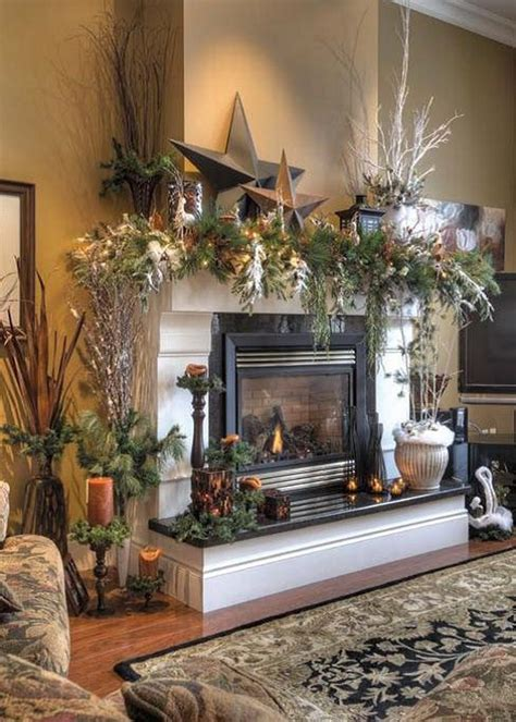elegant fireplace christmas decorating ideas rustic decor fireplace mantel ideas country decorating ideas